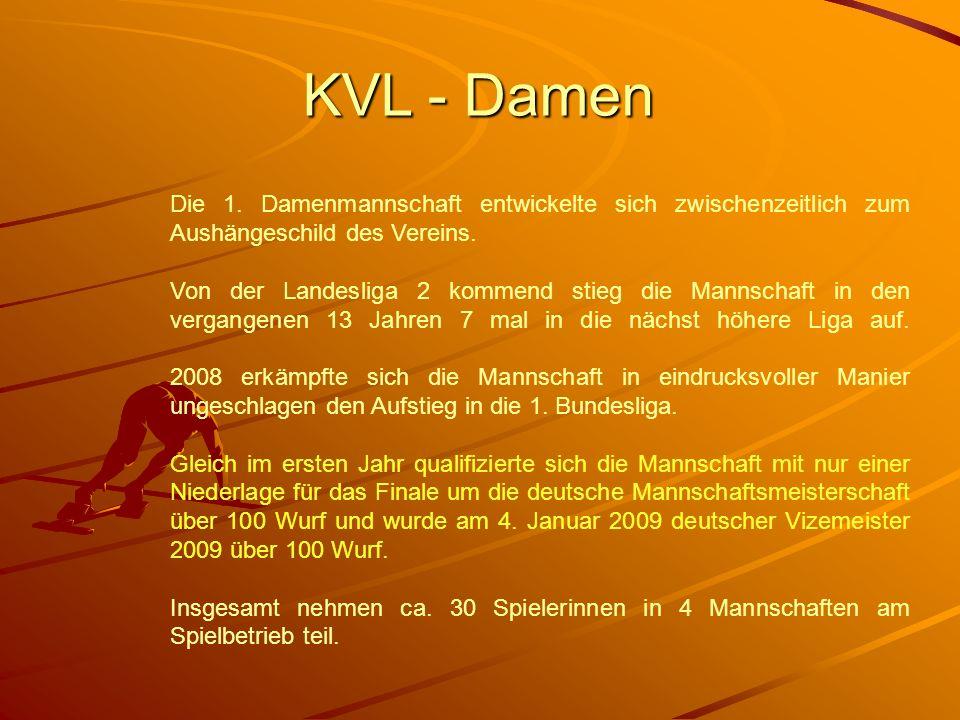 KVL - Damen Die 1. Damenmannschaft entwickelte sich zwischenzeitlich zum Aushängeschild des Vereins.