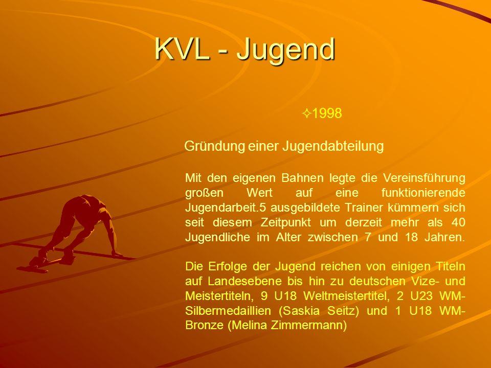 KVL - Jugend 1998 Gründung einer Jugendabteilung