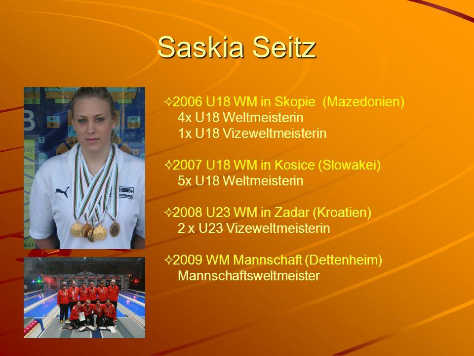 Saskia Seitz 2006 U18 WM in Skopie (Mazedonien) 4x U18 Weltmeisterin 1x U18 Vizeweltmeisterin.