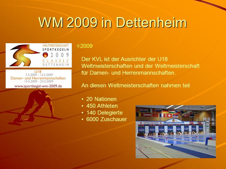 WM 2009 in Dettenheim 2009. Der KVL ist der Ausrichter der U18 Weltmeisterschaften und der Weltmeisterschaft für Damen- und Herrenmannschaften.