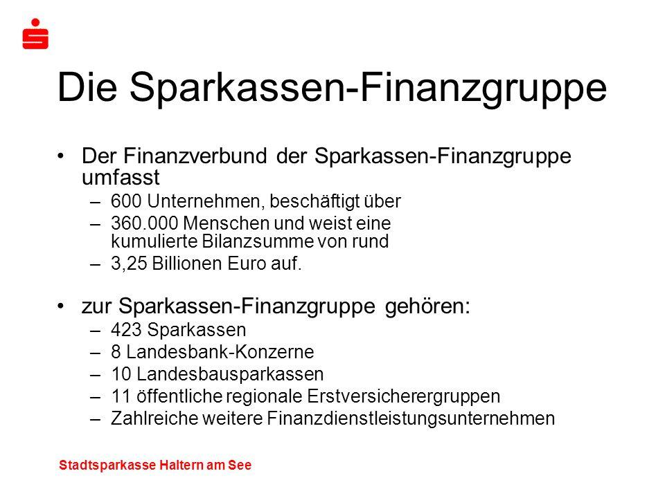 Die Sparkassen-Finanzgruppe