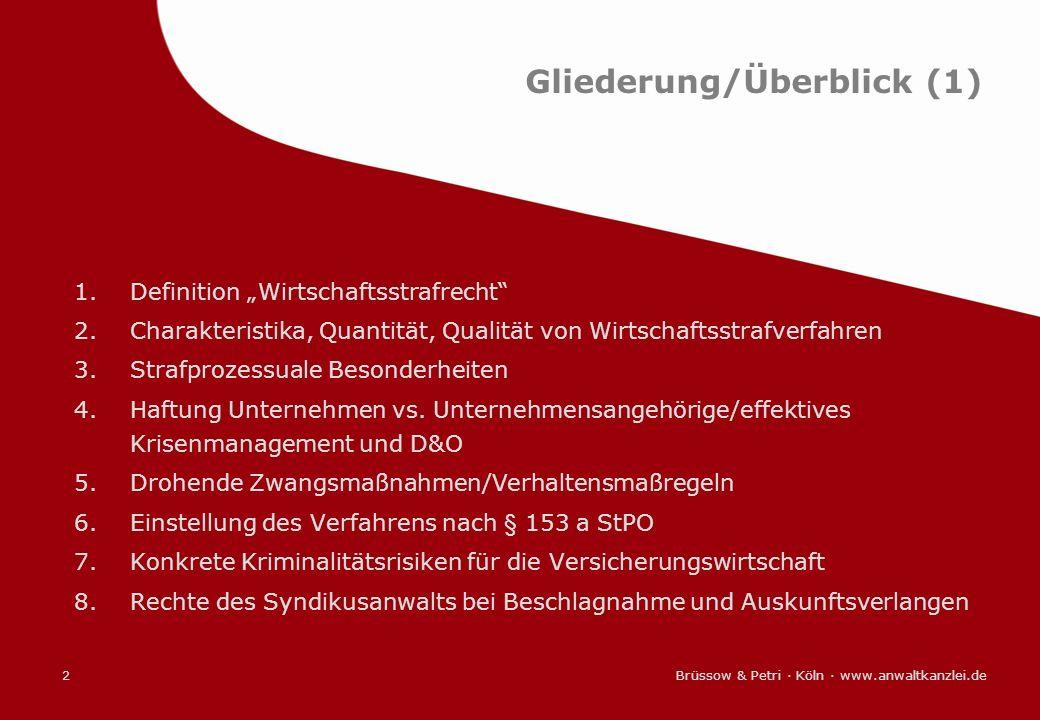 Gliederung/Überblick (1)
