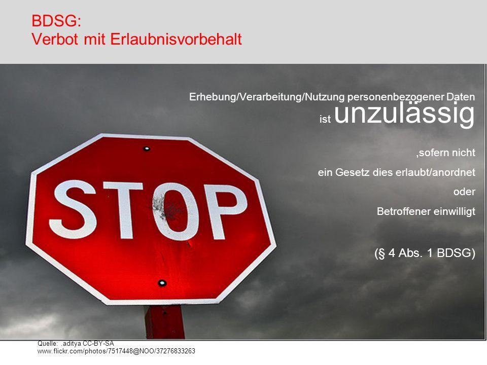 BDSG: Verbot mit Erlaubnisvorbehalt