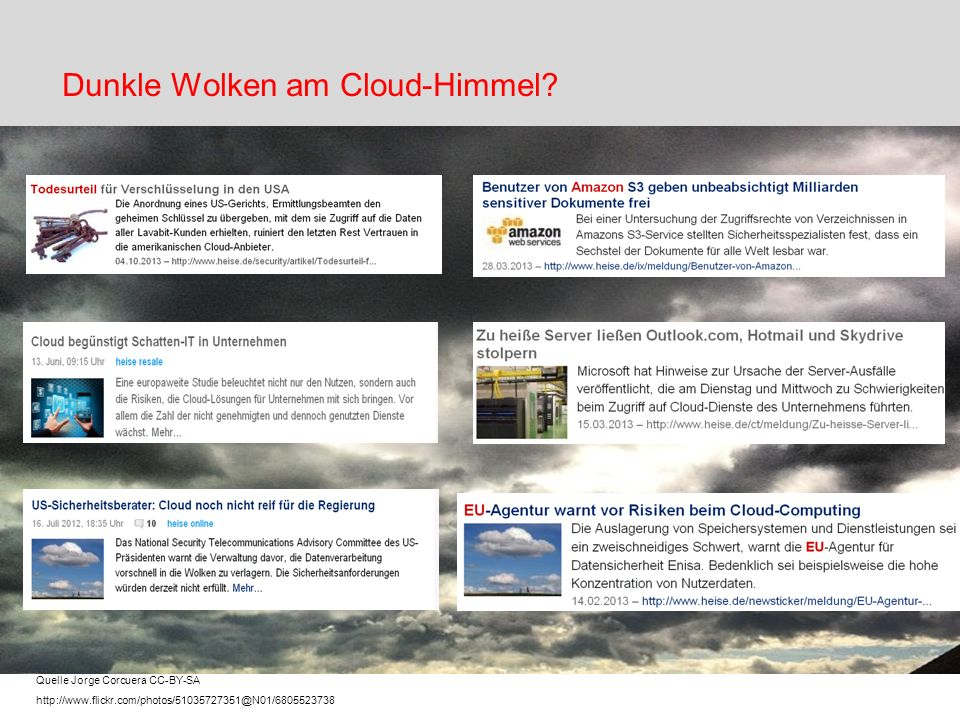 Dunkle Wolken am Cloud-Himmel