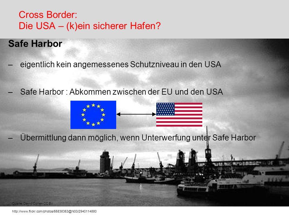 Cross Border: Die USA – (k)ein sicherer Hafen