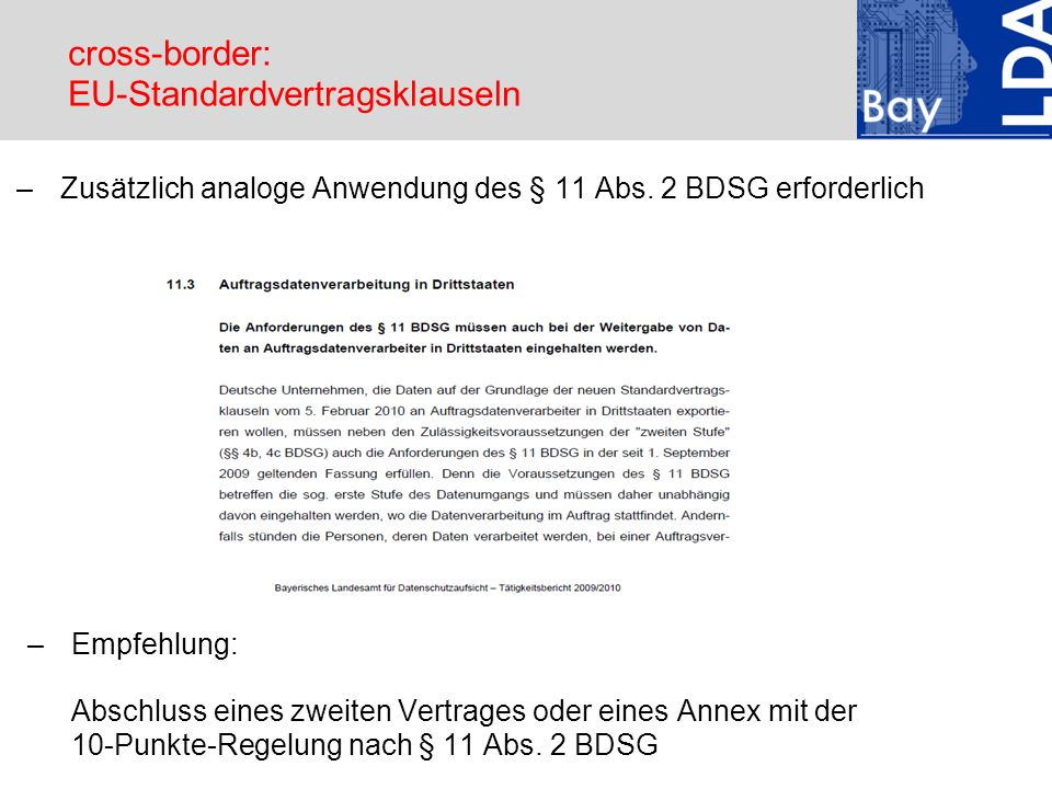 cross-border: EU-Standardvertragsklauseln