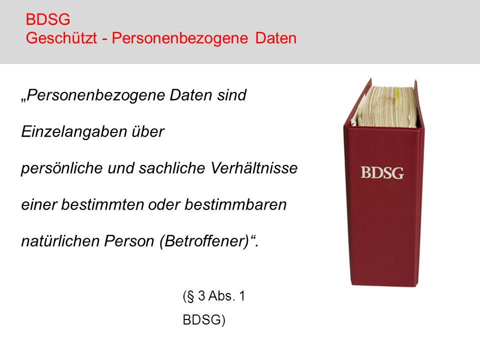 BDSG Geschützt - Personenbezogene Daten