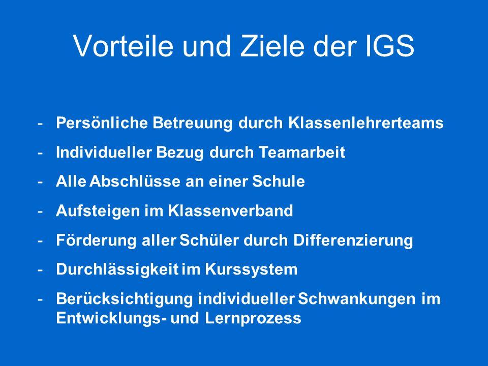 Vorteile und Ziele der IGS