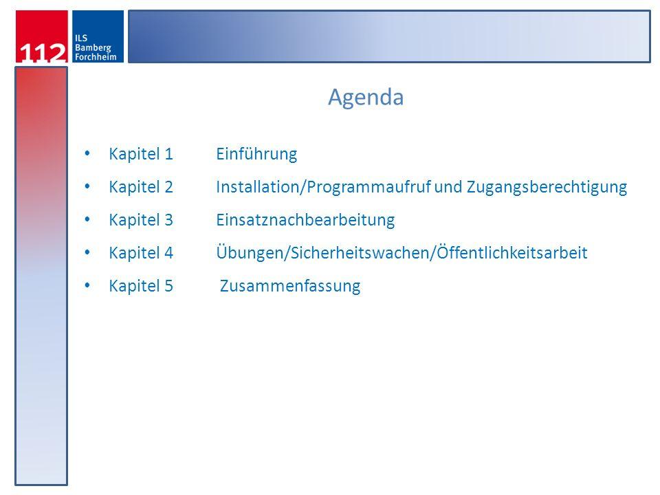 Agenda Kapitel 1 Einführung