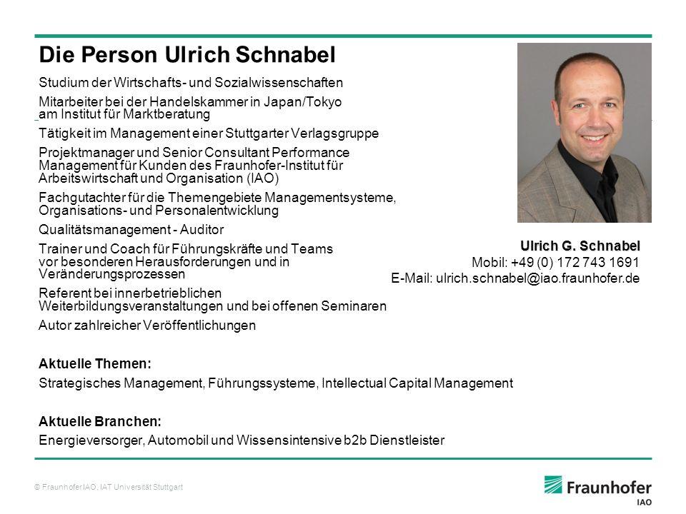 Die Person Ulrich Schnabel