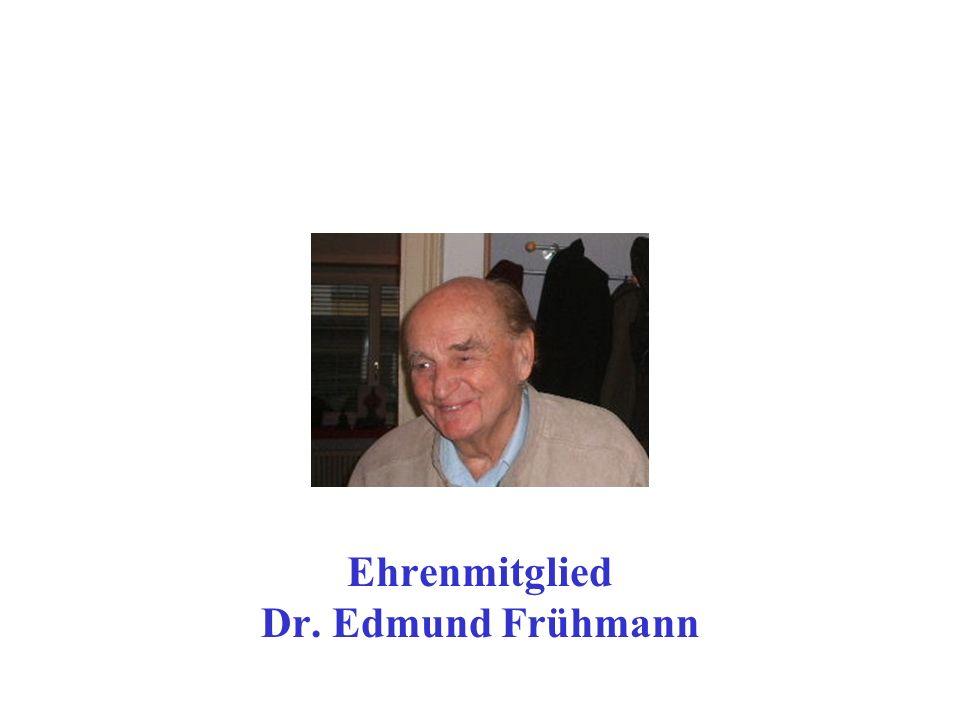 Ehrenmitglied Dr. Edmund Frühmann