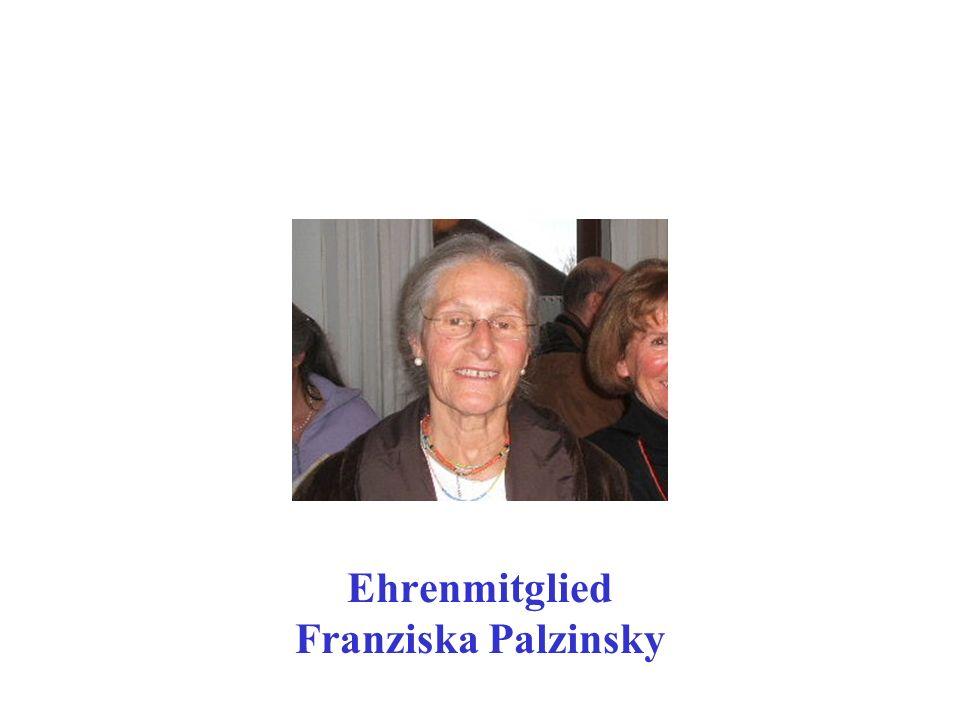 Ehrenmitglied Franziska Palzinsky