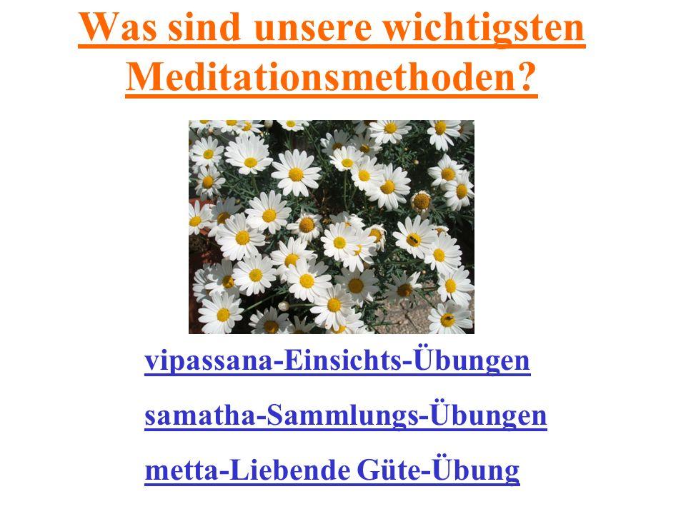 Was sind unsere wichtigsten Meditationsmethoden