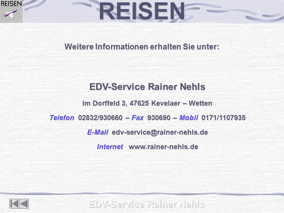 REISEN EDV-Service Rainer Nehls EDV-Service Rainer Nehls