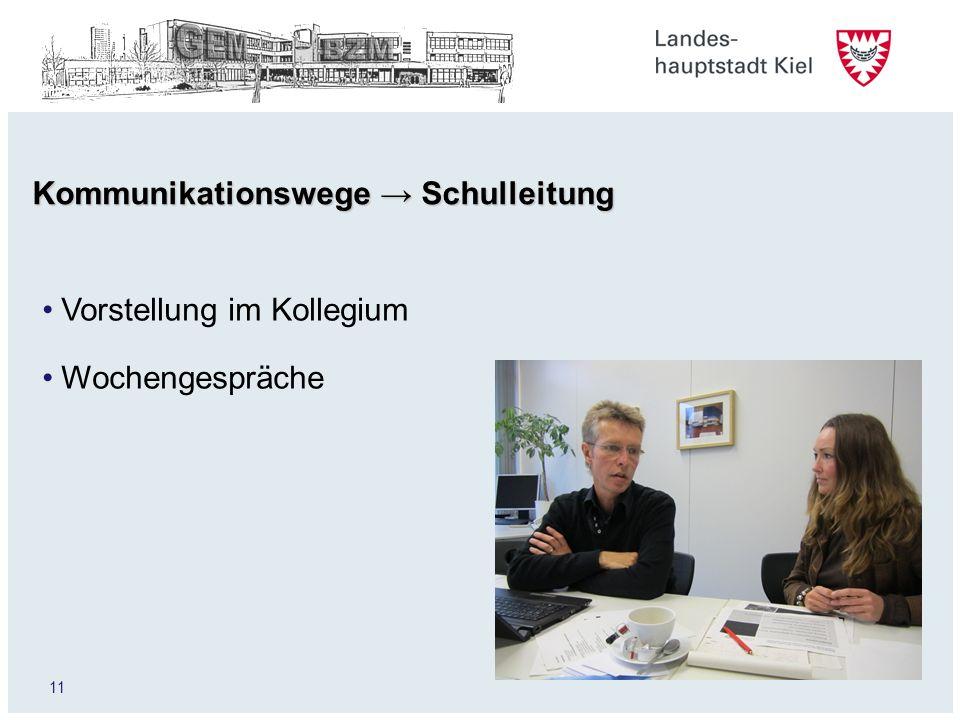 Kommunikationswege → Schulleitung