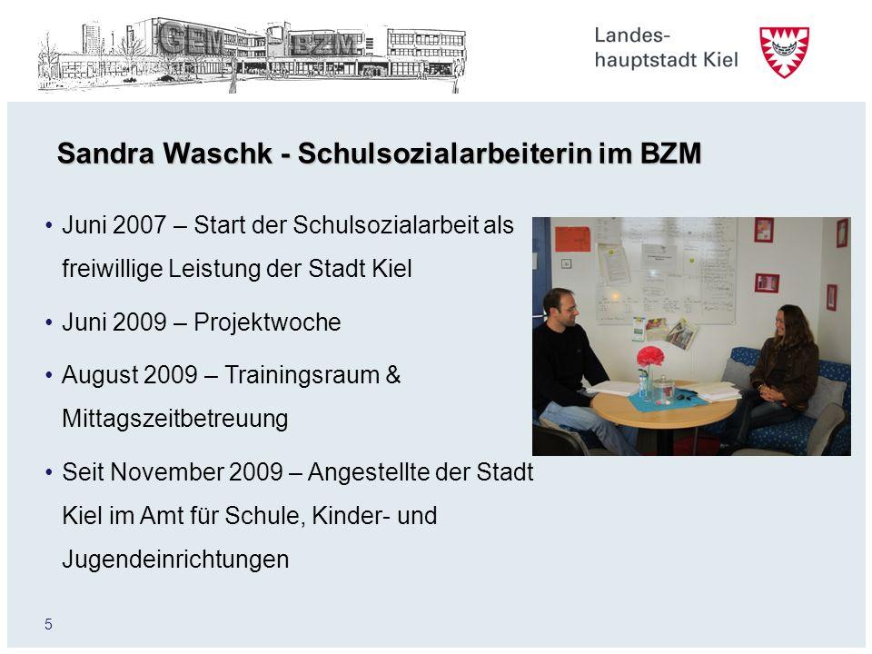 Sandra Waschk - Schulsozialarbeiterin im BZM