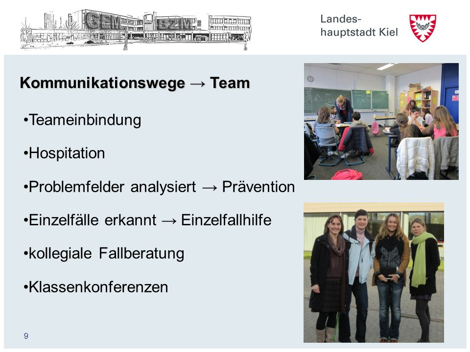 Kommunikationswege → Team