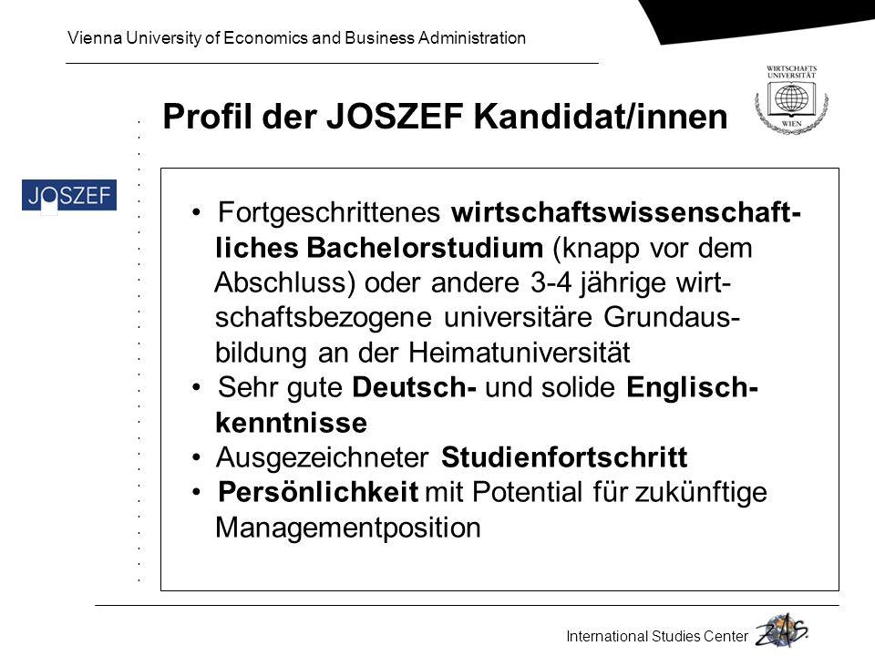 Profil der JOSZEF Kandidat/innen