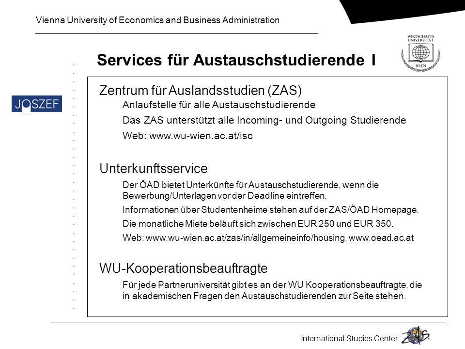 Services für Austauschstudierende I