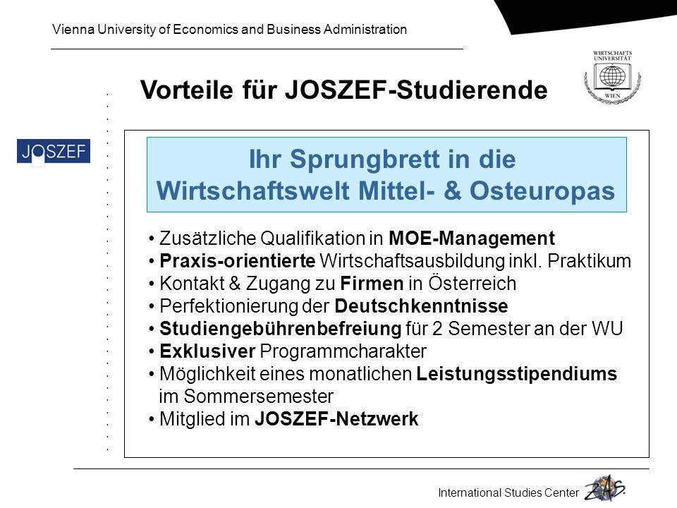 Vorteile für JOSZEF-Studierende Wirtschaftswelt Mittel- & Osteuropas