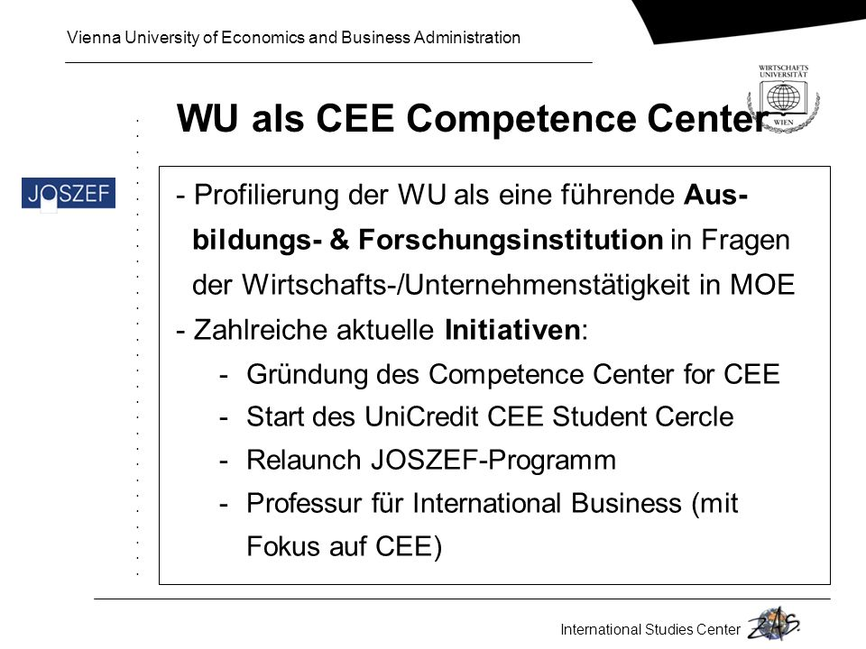 WU als CEE Competence Center