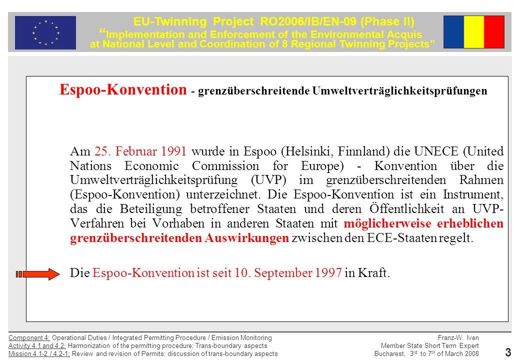 Espoo-Konvention - grenzüberschreitende Umweltverträglichkeitsprüfungen