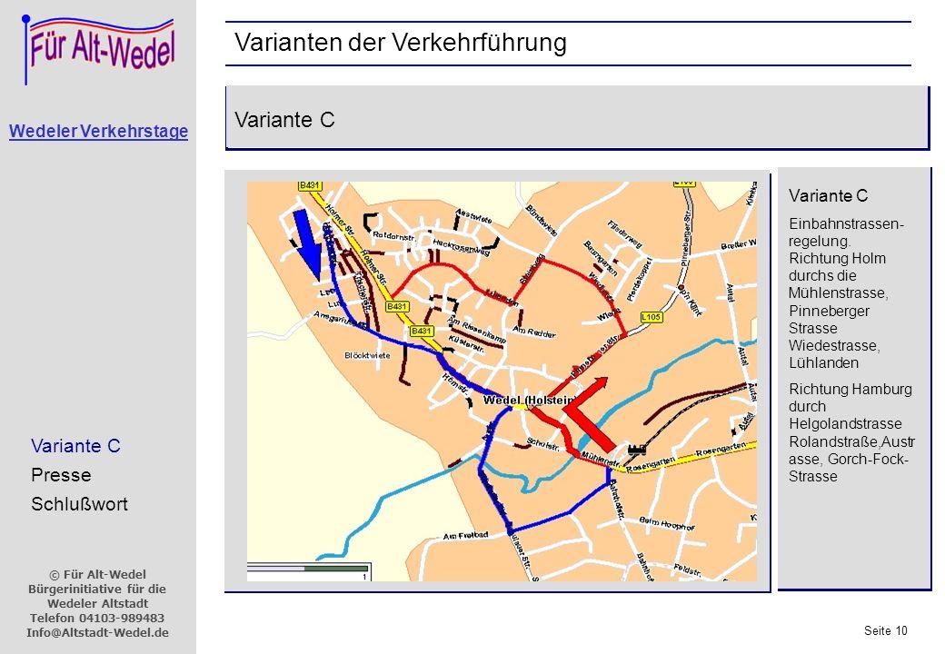 Varianten der Verkehrführung
