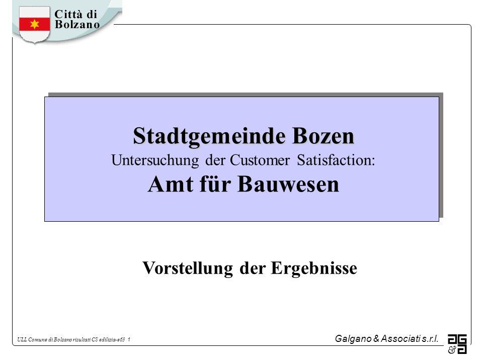 Stadtgemeinde Bozen Untersuchung der Customer Satisfaction: