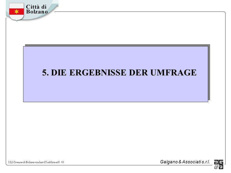5. DIE ERGEBNISSE DER UMFRAGE