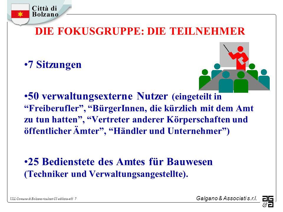 DIE FOKUSGRUPPE: DIE TEILNEHMER