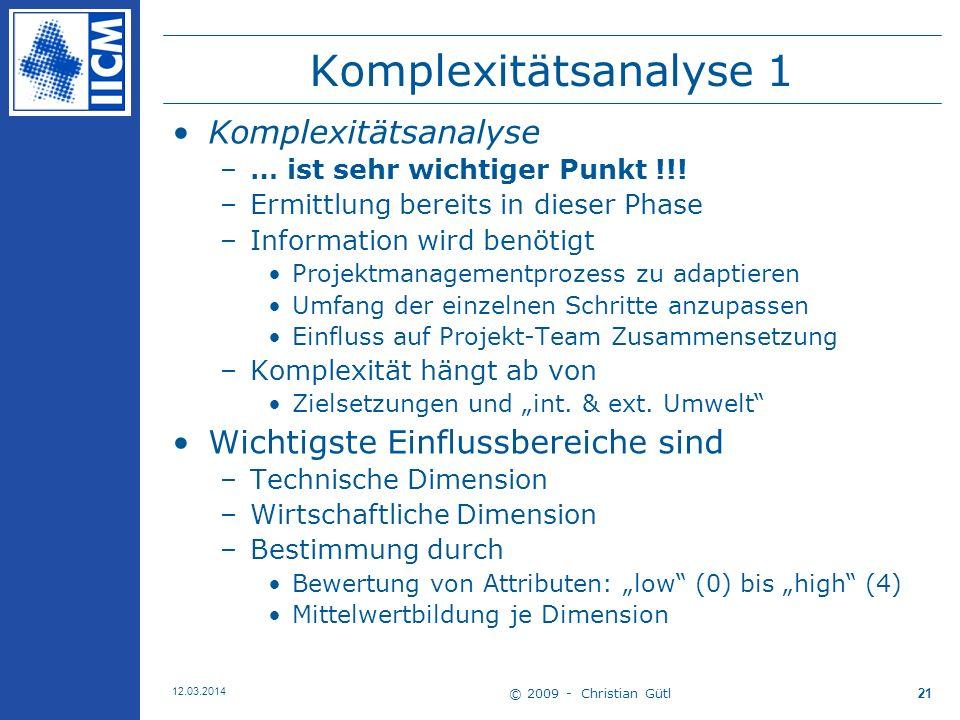 Komplexitätsanalyse 1 Komplexitätsanalyse