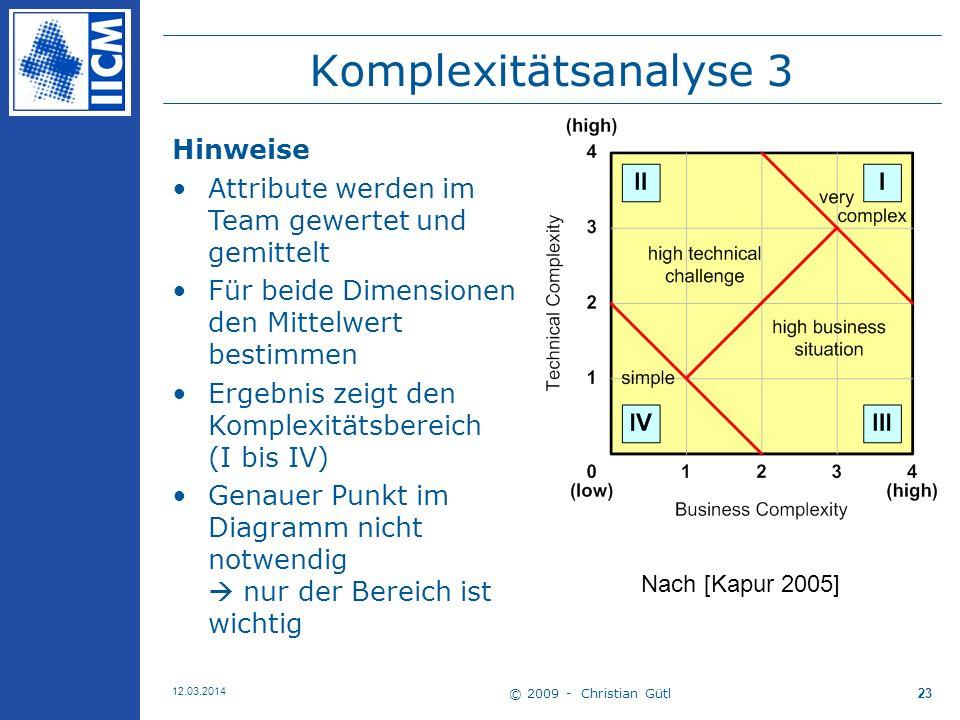 Komplexitätsanalyse 3 Hinweise