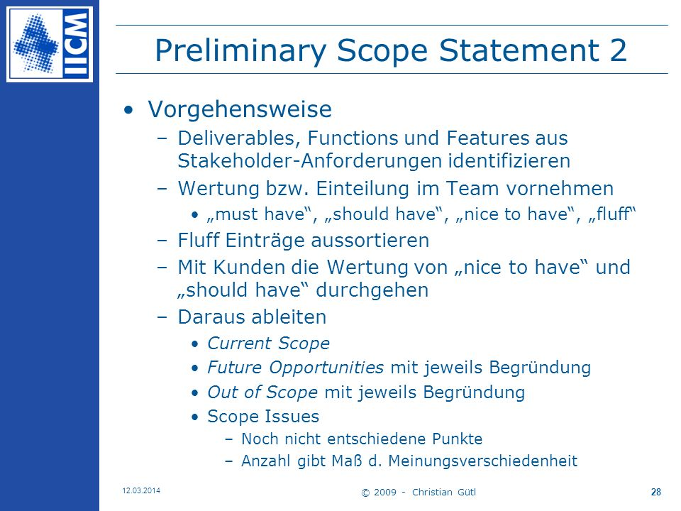 Preliminary Scope Statement 2