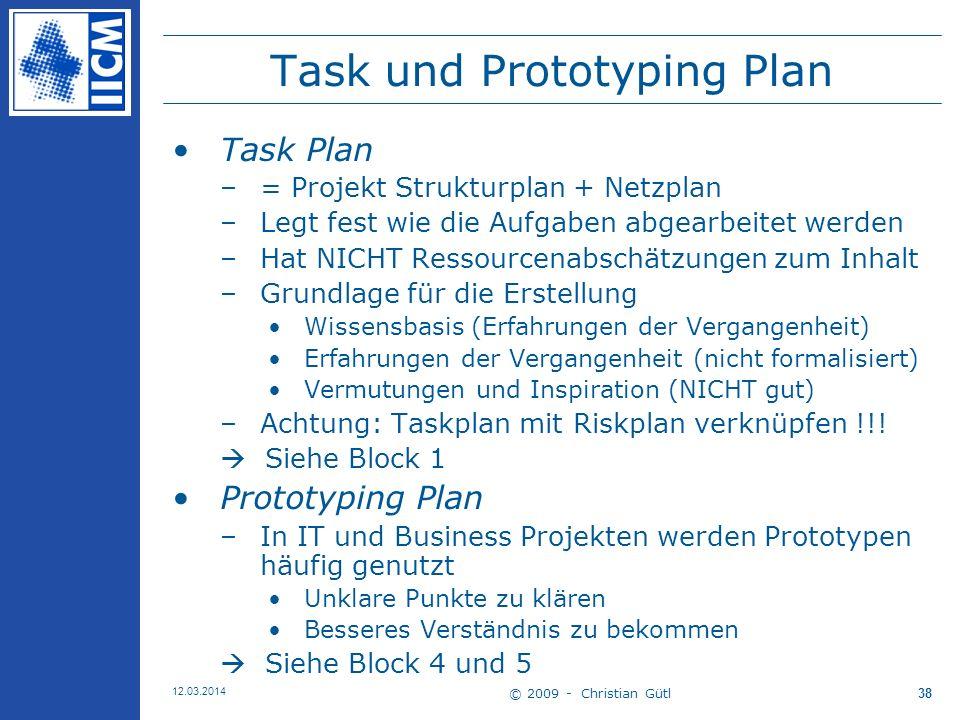 Task und Prototyping Plan