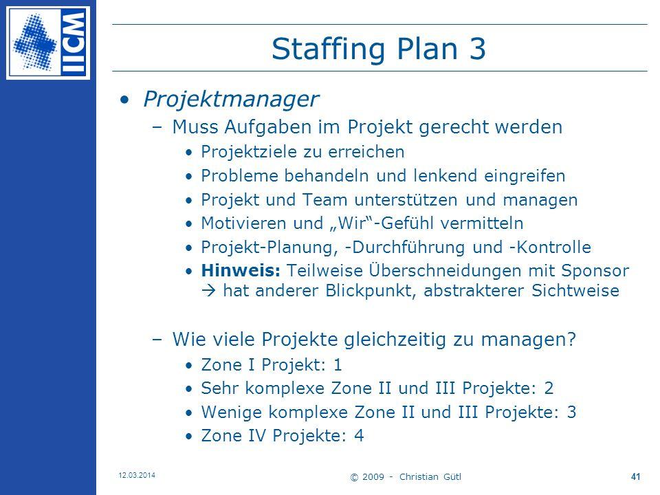 Staffing Plan 3 Projektmanager Muss Aufgaben im Projekt gerecht werden
