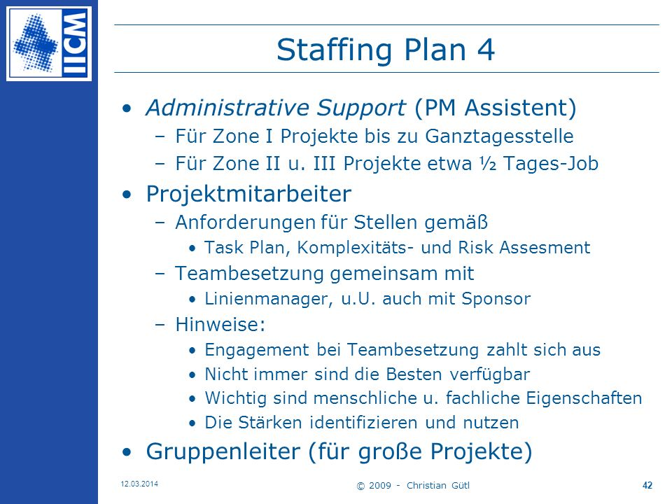 Staffing Plan 4 Administrative Support (PM Assistent)
