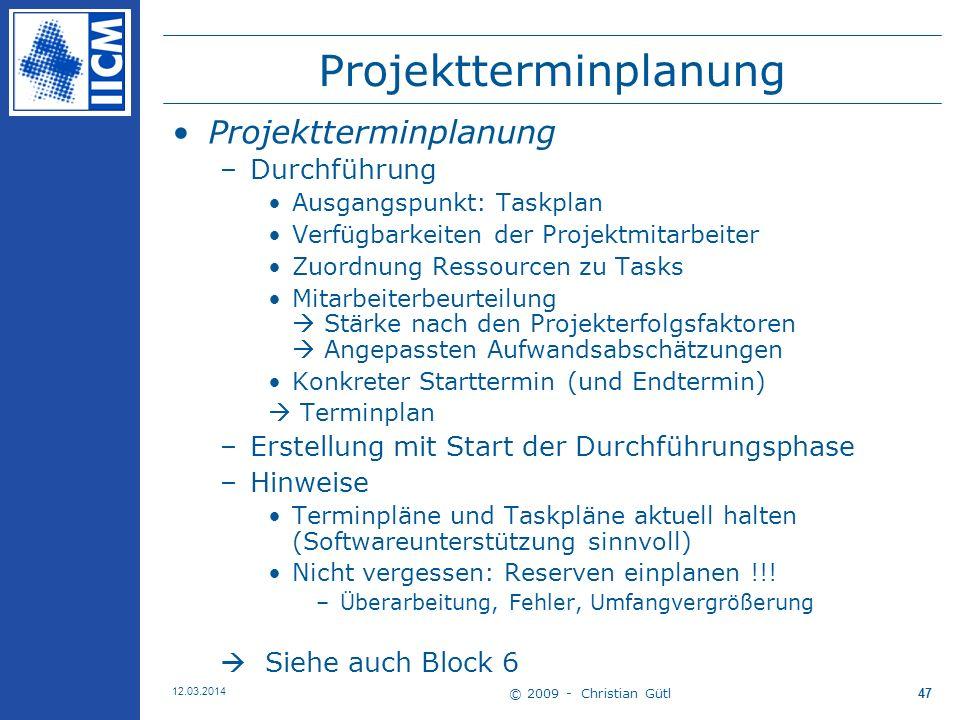 Projektterminplanung