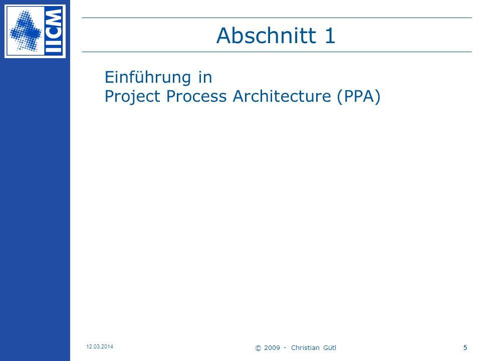 Abschnitt 1 Einführung in Project Process Architecture (PPA)