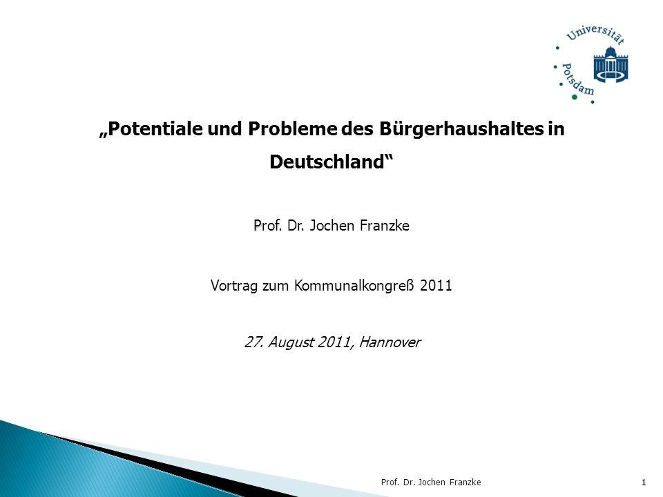 """""""Potentiale und Probleme des Bürgerhaushaltes in Deutschland"""