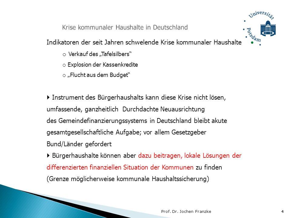 Krise kommunaler Haushalte in Deutschland