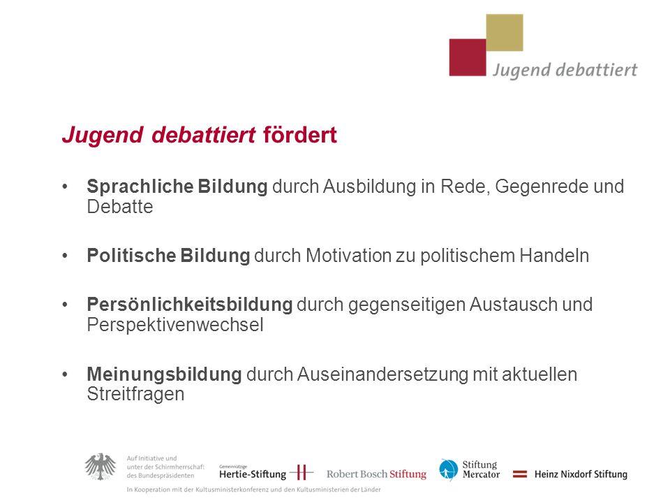 Jugend debattiert fördert