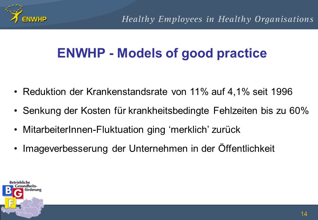 ENWHP - Models of good practice