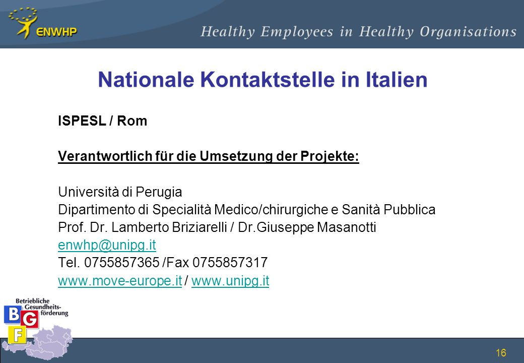 Nationale Kontaktstelle in Italien