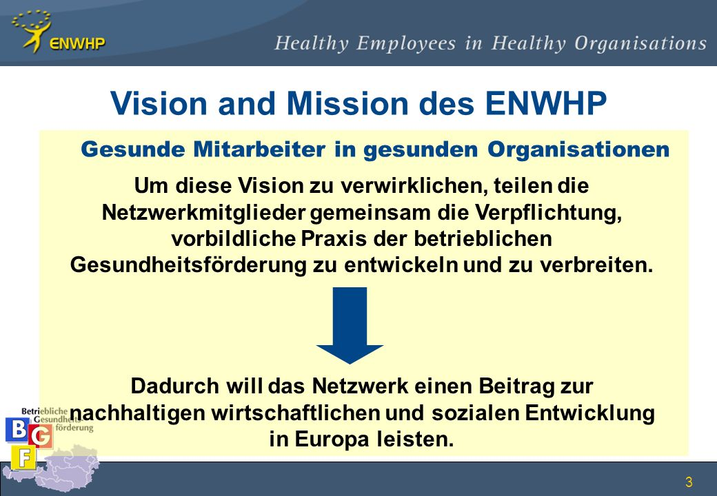 Vision and Mission des ENWHP