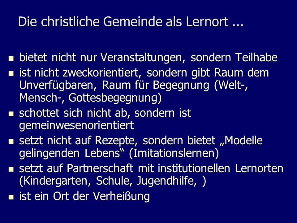 Die christliche Gemeinde als Lernort ...