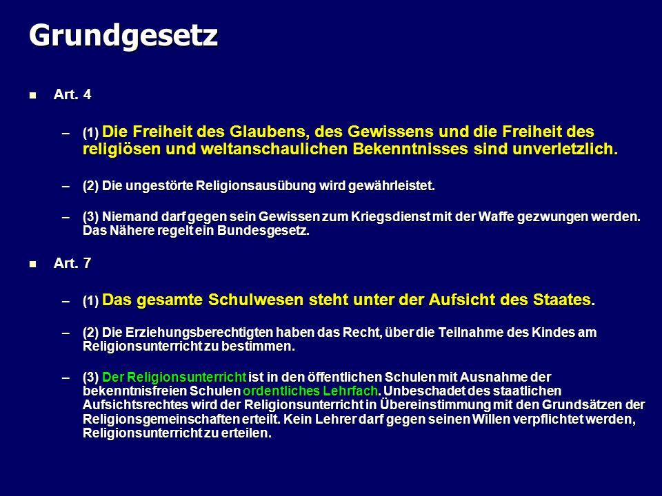 Grundgesetz Art. 4.