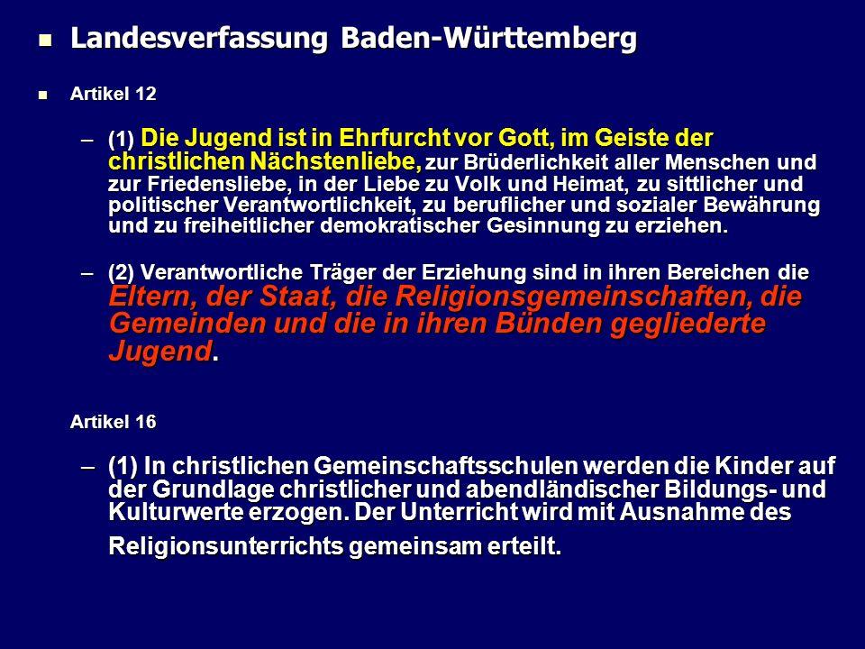 Landesverfassung Baden-Württemberg