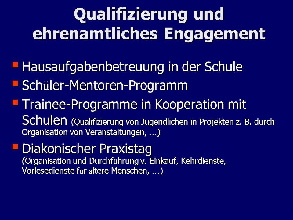 Qualifizierung und ehrenamtliches Engagement