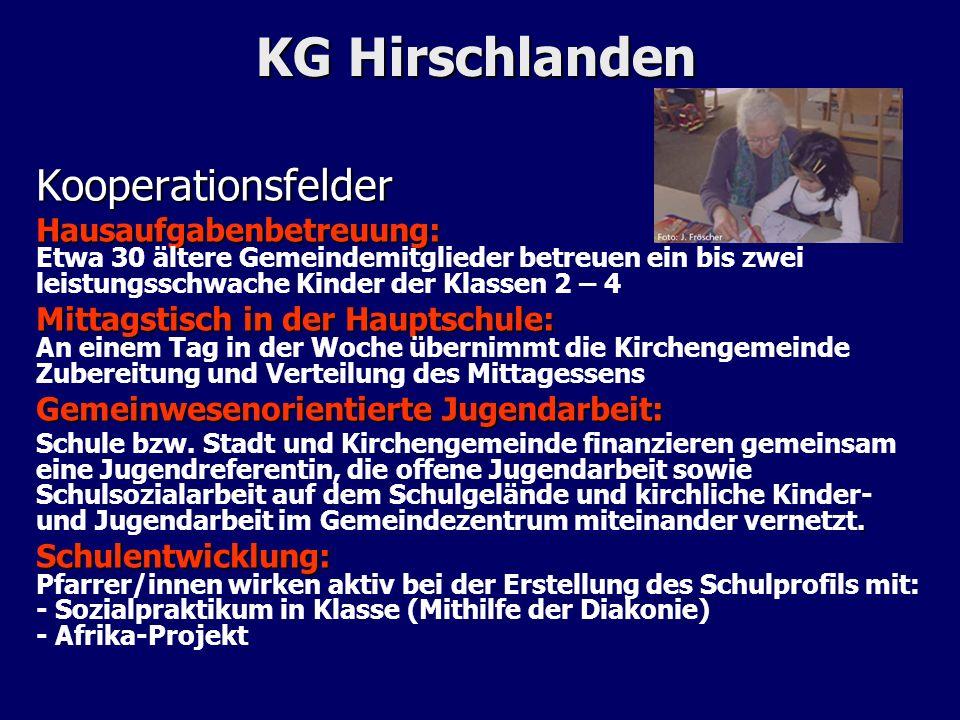 KG Hirschlanden Kooperationsfelder