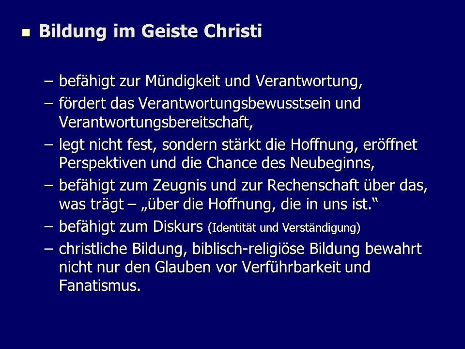 Bildung im Geiste Christi
